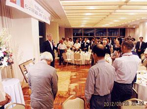 受賞祝賀会を社内で開催 於ホテル日航新潟 (平成24年8月28日)