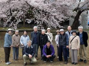 観桜会での集合写真